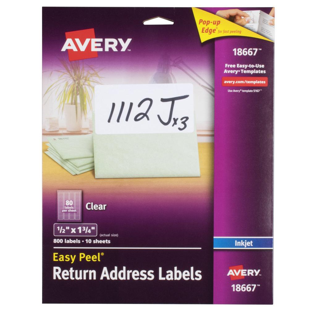 Avery 18667 Easy Peel 1/2\