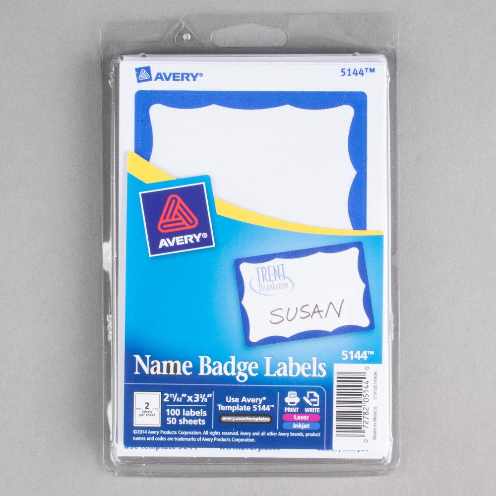 Avery 5144 2 13 x 3 38 printable self adhesive name badges with avery 5144 2 13 x 3 38 printable self adhesive name badges with blue border 100pack maxwellsz