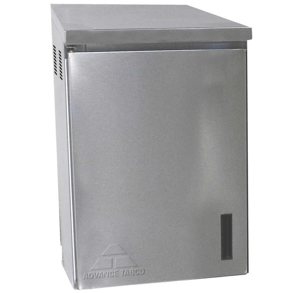 "Wall Mounted Kitchen Cabinets: Advance Tabco WCH-15-24 24"" Stainless Steel Wall Mounted"
