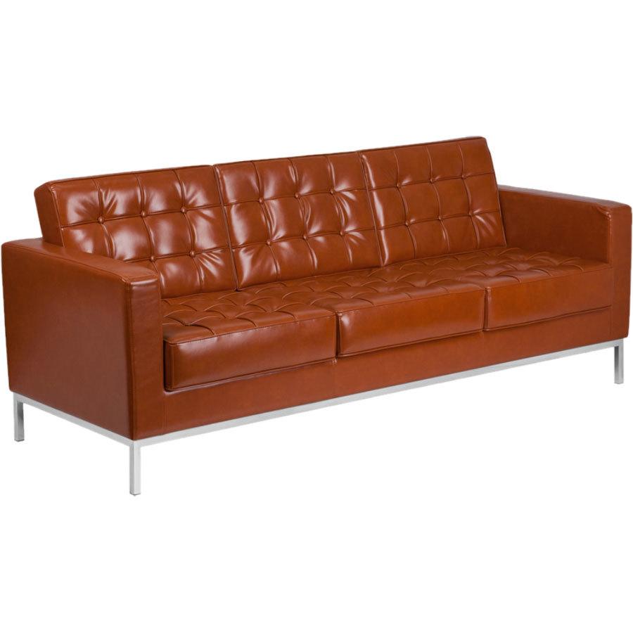 Sofa Cognac flash furniture zb 831 2 sofa cog gg hercules cognac contemporary leather sofa with
