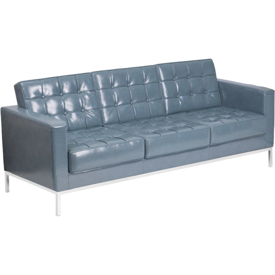 flash furniture zb lacey 831 2 sofa gy gg hercules lacey gray contemporary leather sofa with stainless. beautiful ideas. Home Design Ideas