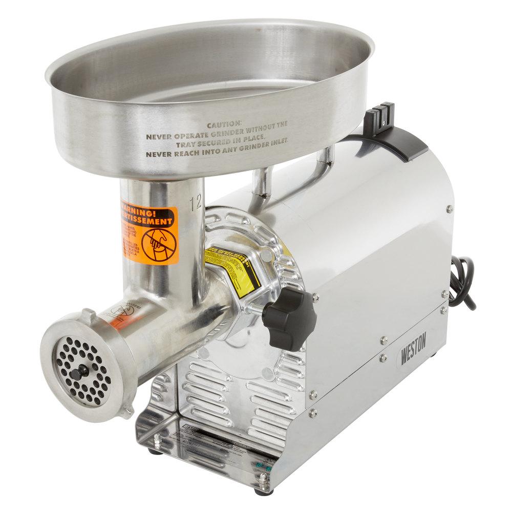 Electric Meat Grinder ~ Weston w pro series electric meat grinder