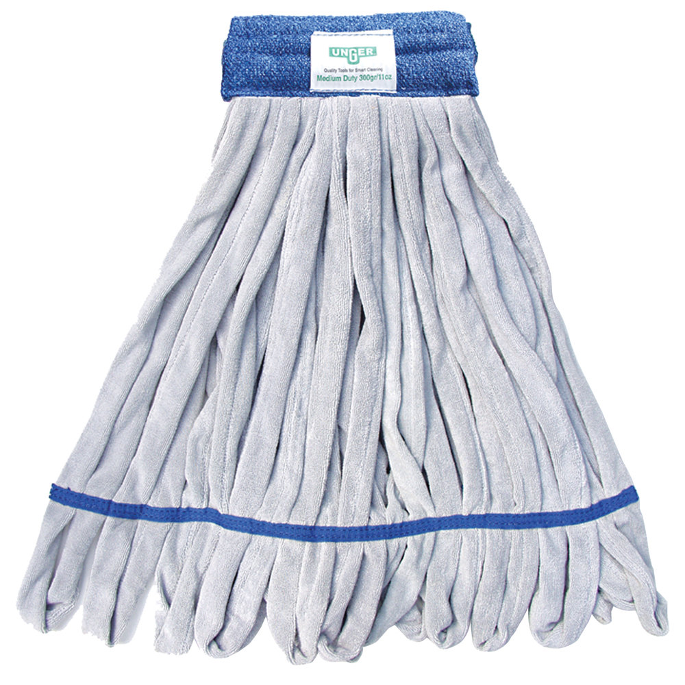 Unger ST30B 11 oz. Blue Medium Duty Microfiber String Mop Head