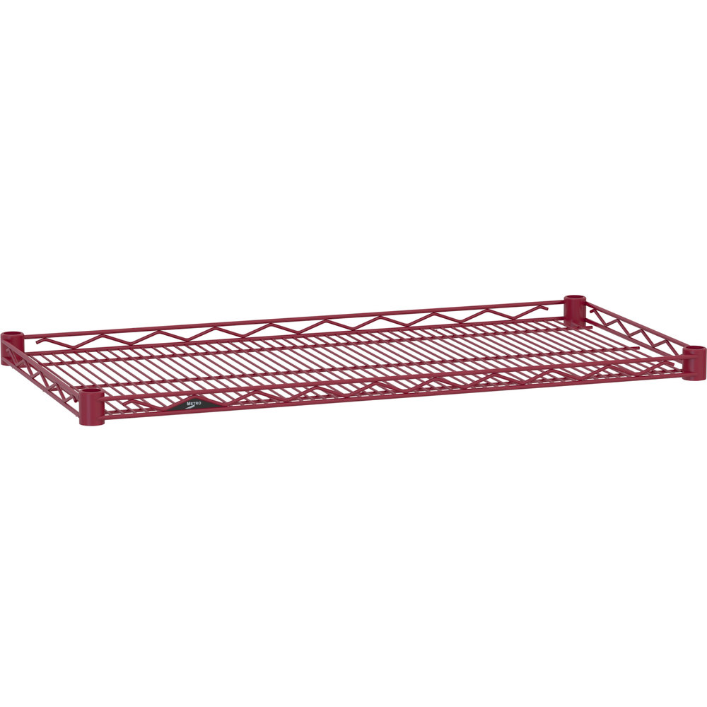 "Metro HDM1848-DF Super Erecta Flame Red Drop Mat Wire Shelf - 18"" x 48"""