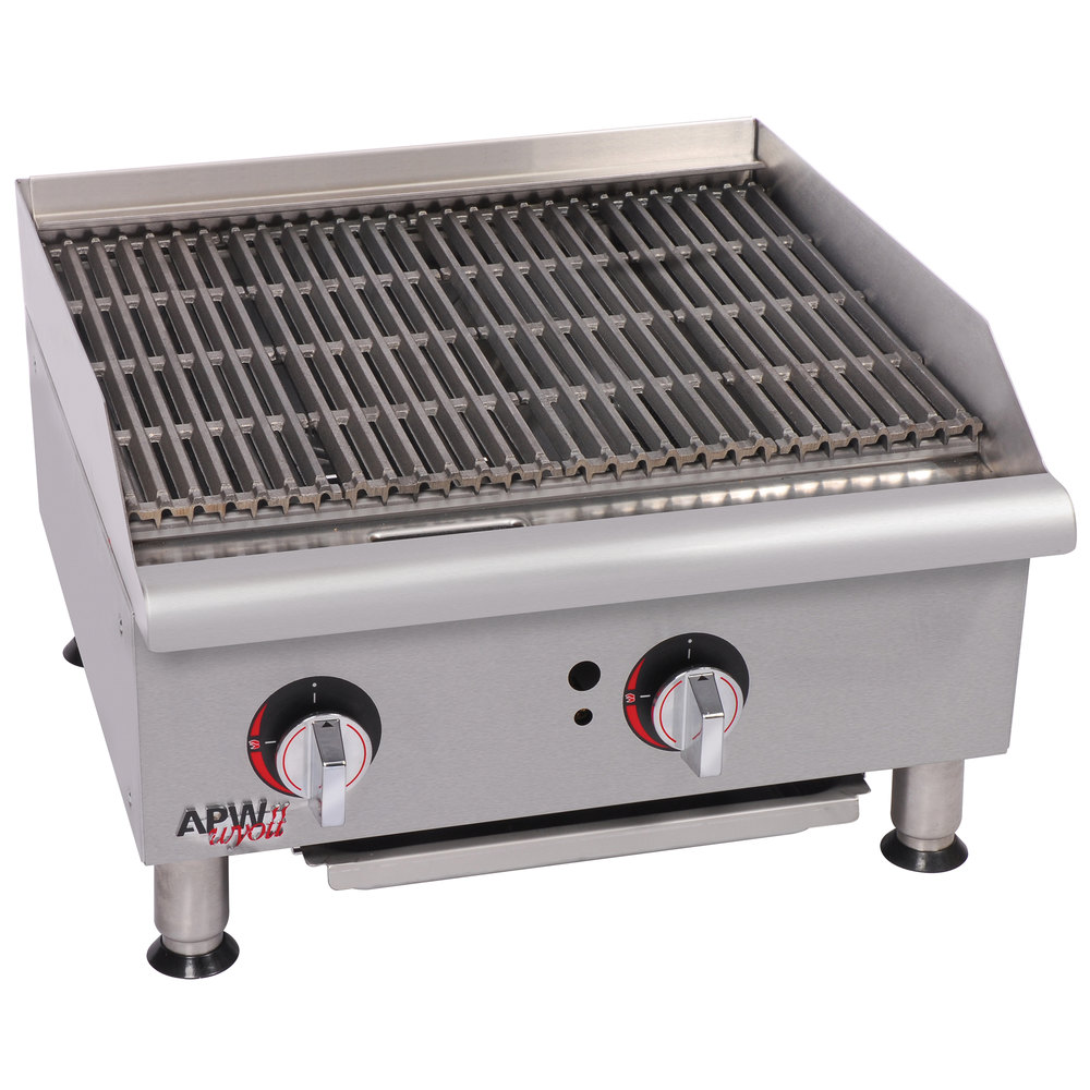 "APW Wyott GCB-24i Champion Radiant 24"" Charbroiler with Safety Pilot - 80,000 BTU"