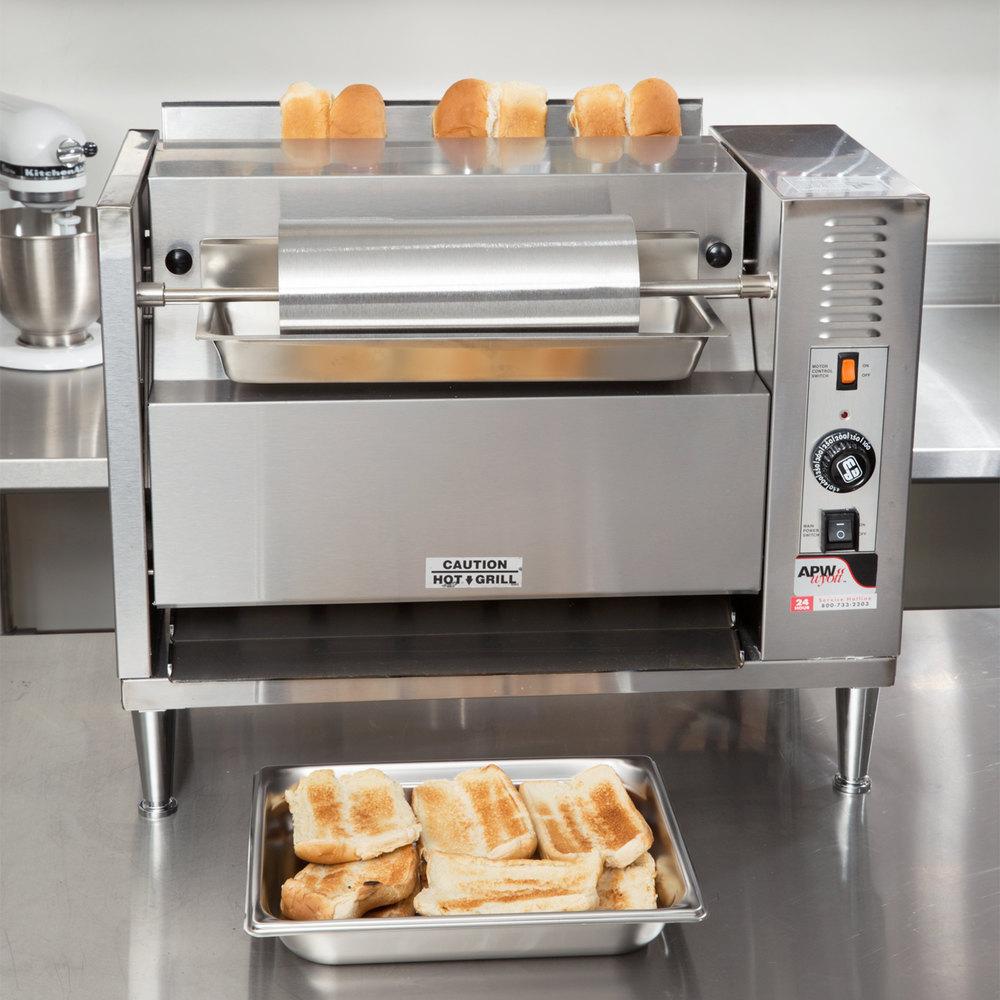 240v Apw Wyott M 83 Vertical Conveyor Bun Grill Toaster