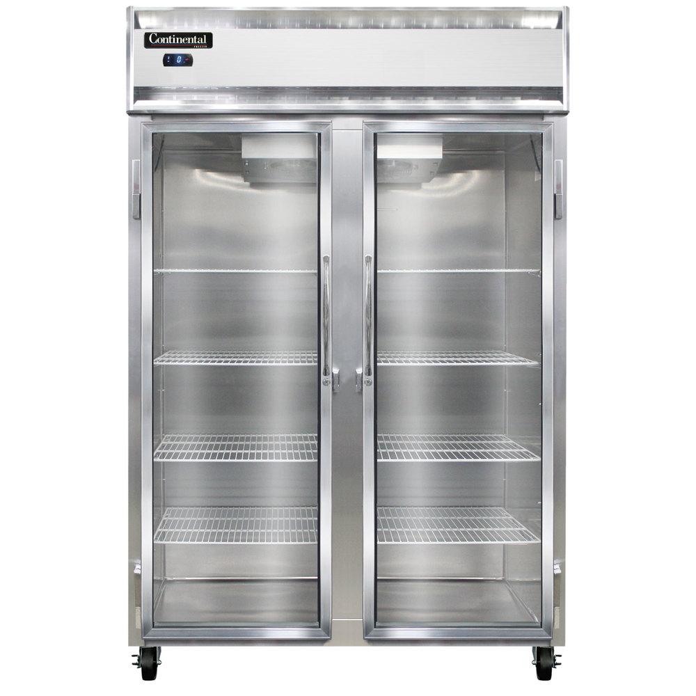 Continental refrigerator 2f gd 52 glass door reach in - Glass door refrigerator freezer ...