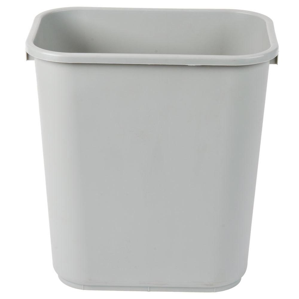 continental 2818gy 28 qt 7 gallon gray rectangular wastebasket trash can. Black Bedroom Furniture Sets. Home Design Ideas
