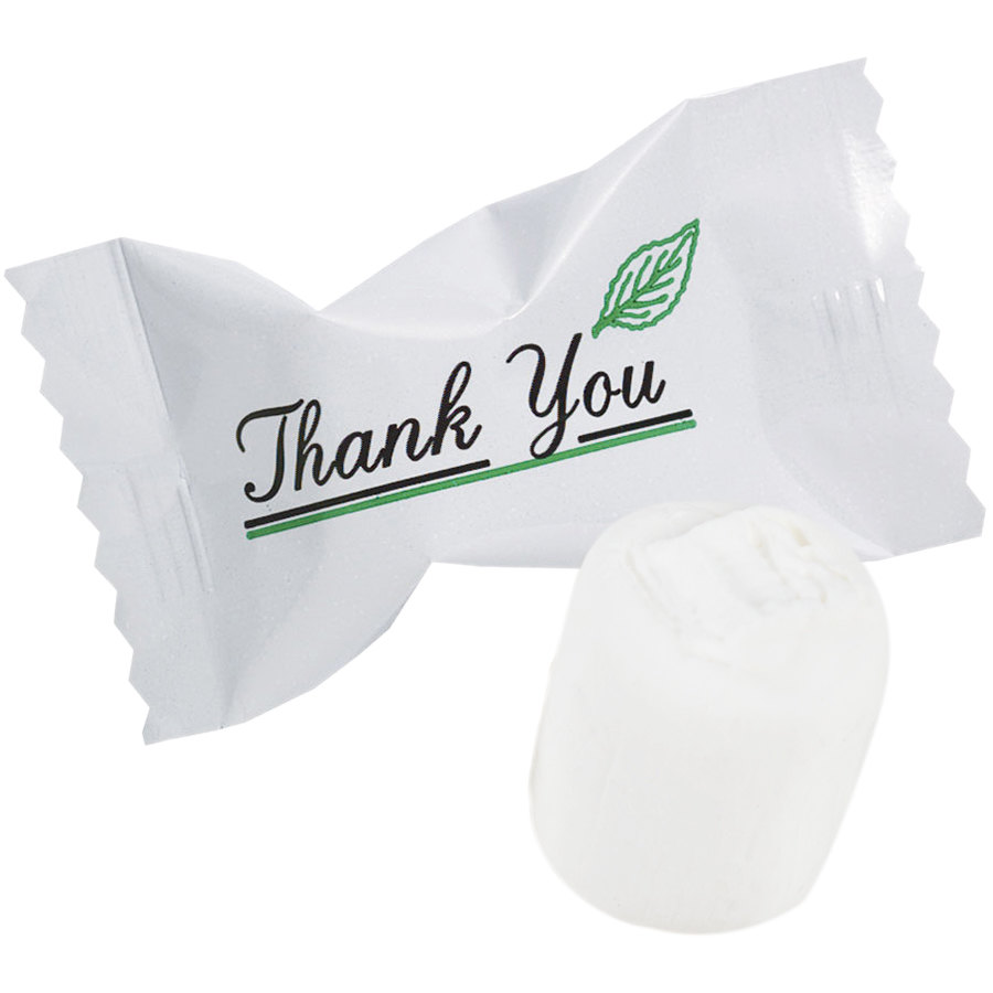 """Thank You"" Buttermints Individually Wrapped 1000/Case"