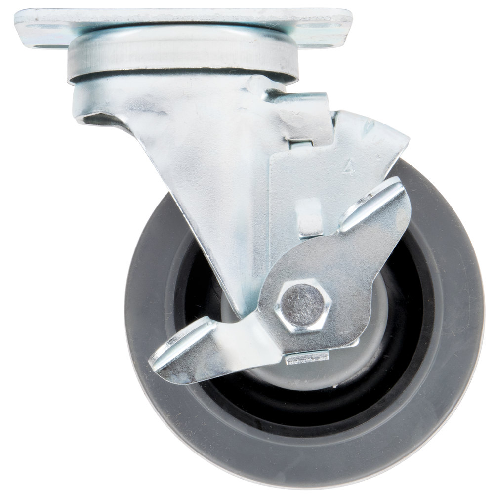 Replacement Swivel Plate Caster with Brake for US Range and Garland S and H Series Ranges