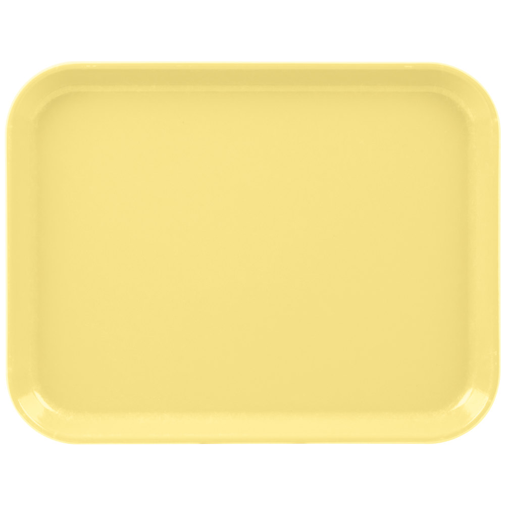 "Cambro 1014CL145 10"" x 14"" Yellow Camlite Tray - 12/Case"