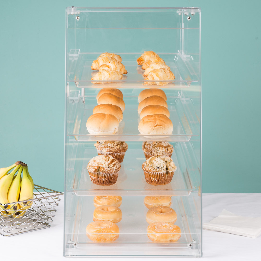 "Cal-Mil 1012 Four Tier U-Build Classic Pastry Display Case - 13 1/2"" x 21"" x 24 1/2"""
