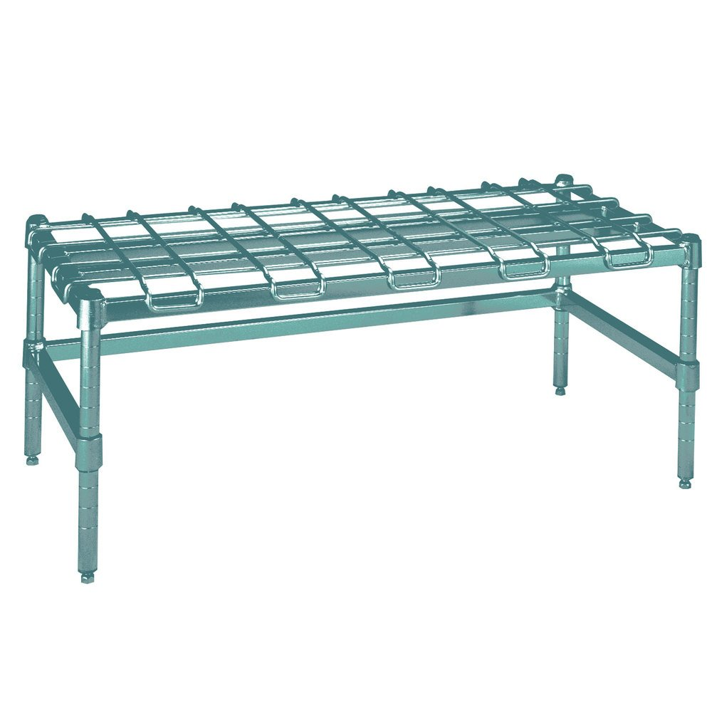 "Metro HDP55K3 24"" x 48"" x 16 1/4"" Super Heavy Duty Metroseal 3 Dunnage Rack with Wire Mat - 3000 lb. Capacity"