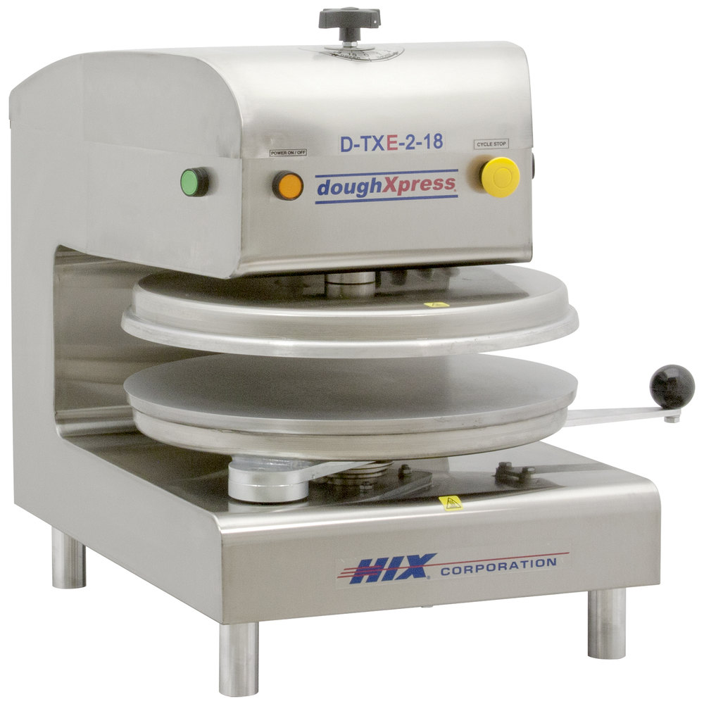 "DoughXpress D-TXE-2-18 Dual Heat Round Electromechanical Tortilla Press 18"" - 220V"