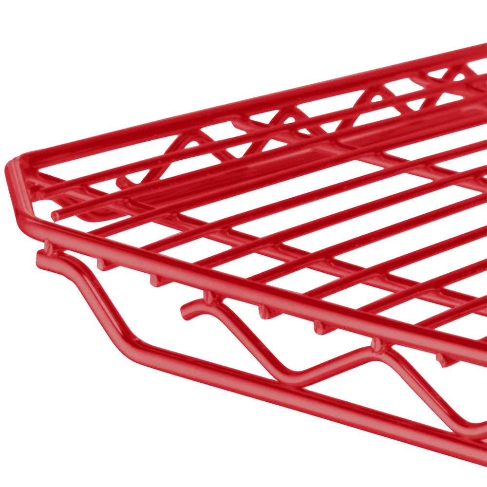 "Metro 2448Q-DF qwikSLOT Flame Red Wire Shelf - 24"" x 48"""