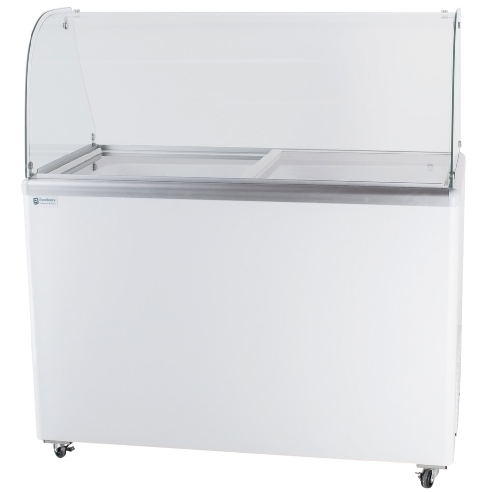 "Excellence EDC-8C 48"" Curved Glass Ice Cream Dipping Cabinet"