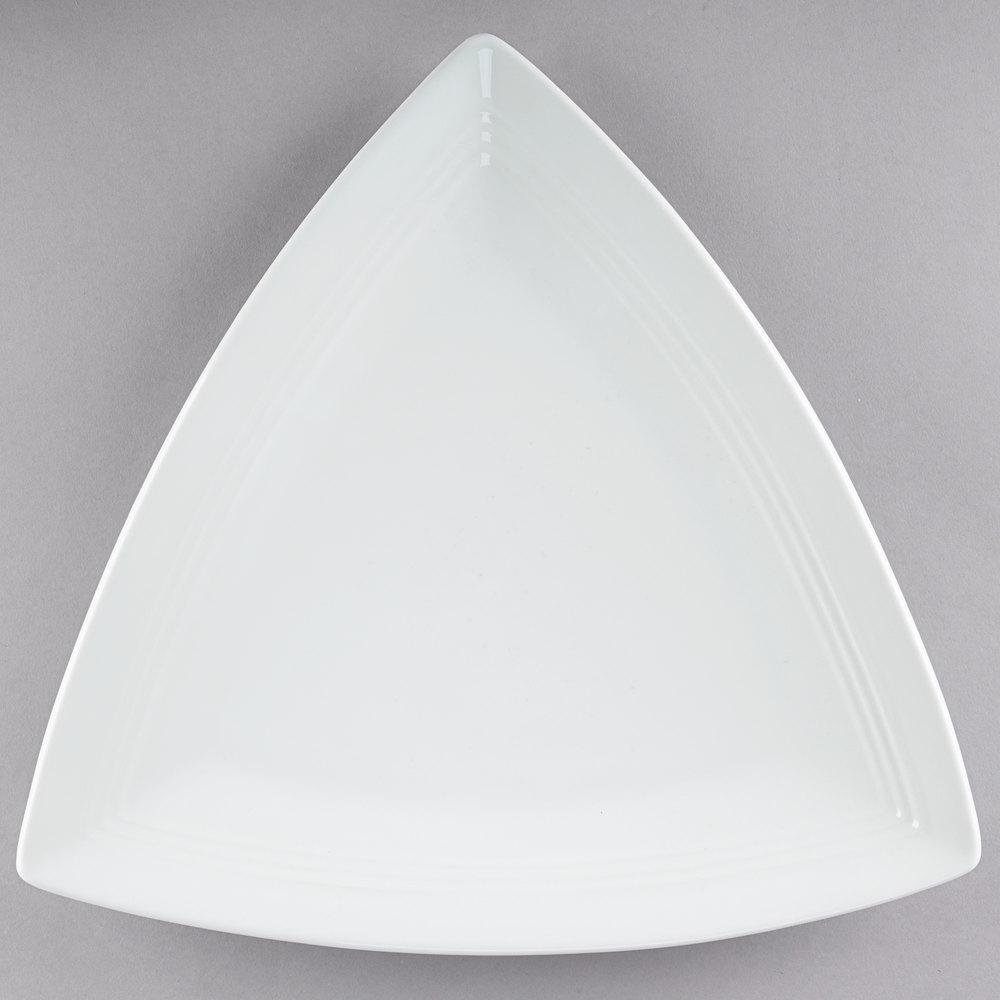 Tuxton Cwz 1248 Concentrix 12 1 2 Quot White Triangle China