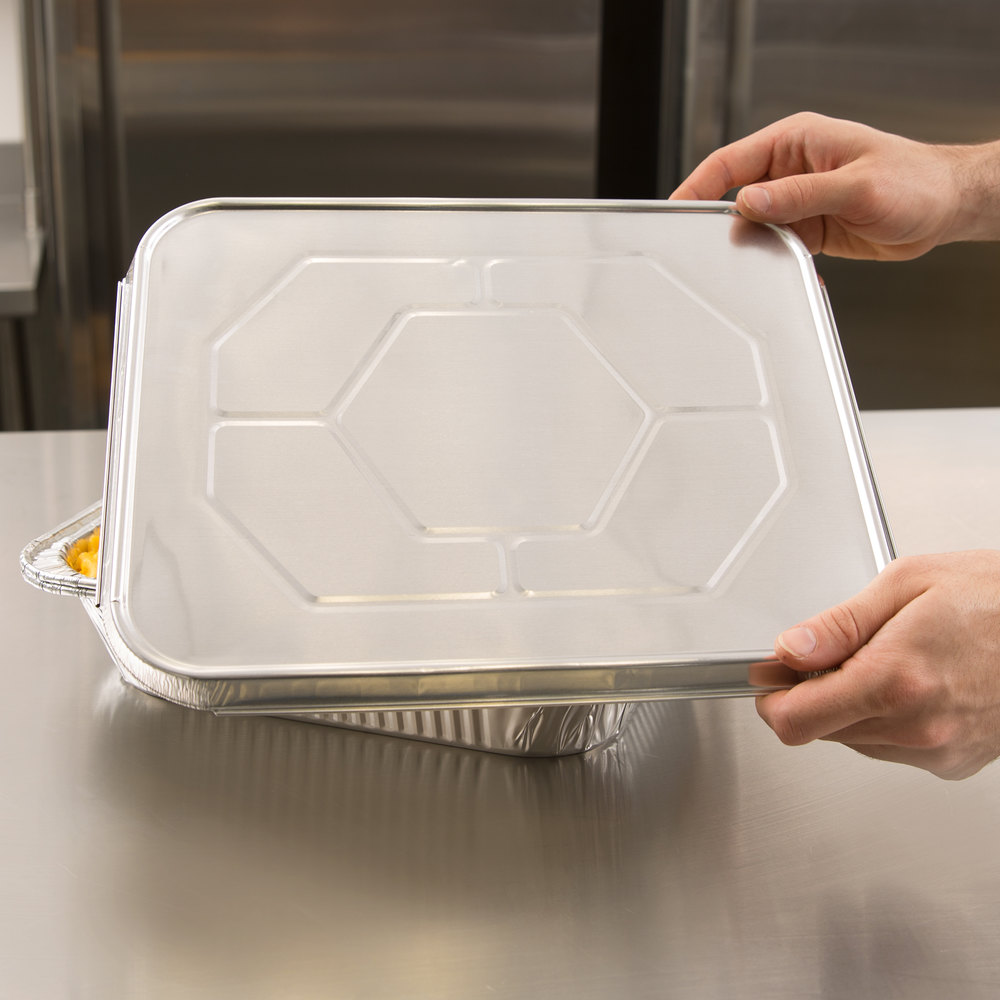 Choice 1/2 Size Foil Steam Table Pan Lid - 20/Pack