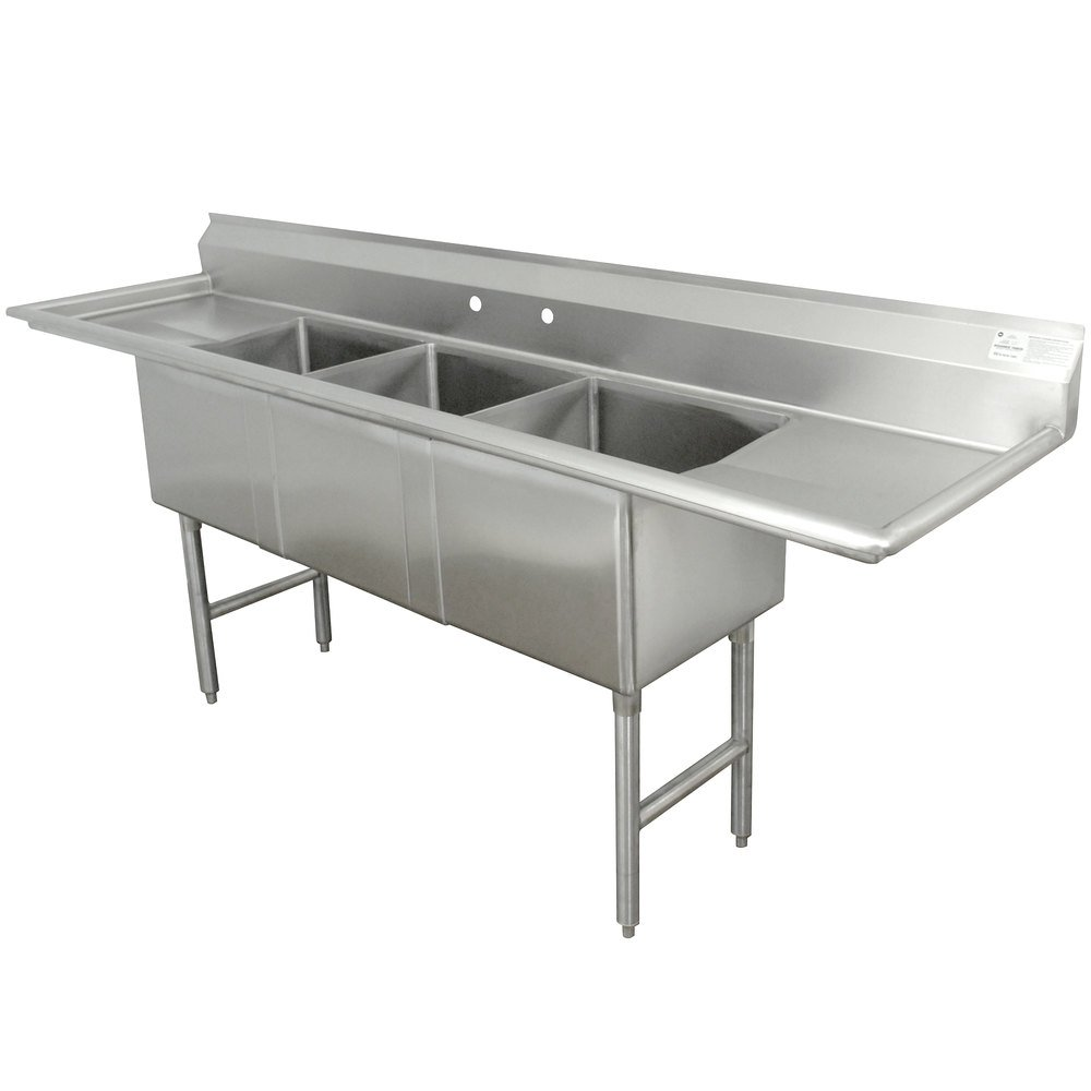Commercial Sinks Australia : ... Commercial Sink with Two Drainboards - 90