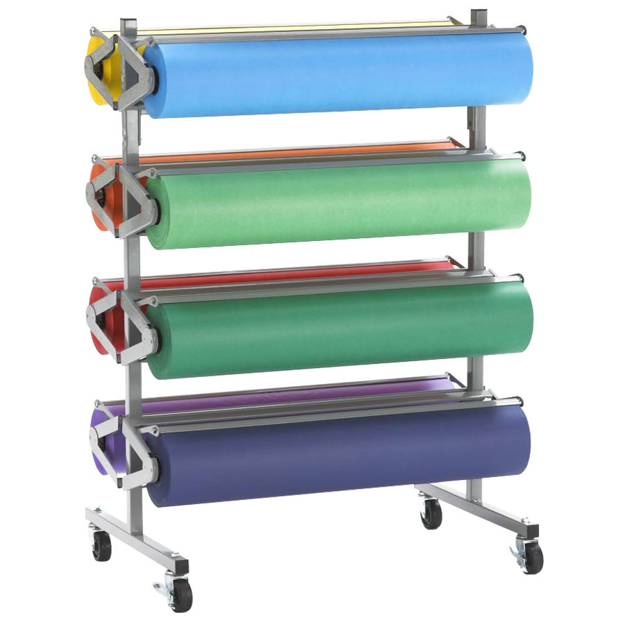 "Bulman R370 36"" Horizontal Tower 8 Roll Standard Paper Rack - Assembled"