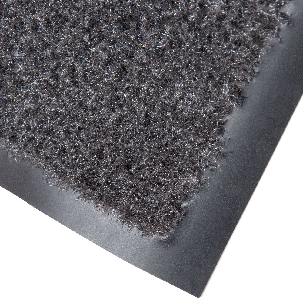 "Cactus Mat 1437R-L4 Catalina Standard-Duty 4' x 60' Charcoal Olefin Carpet Entrance Floor Mat Roll - 5/16"" Thick"