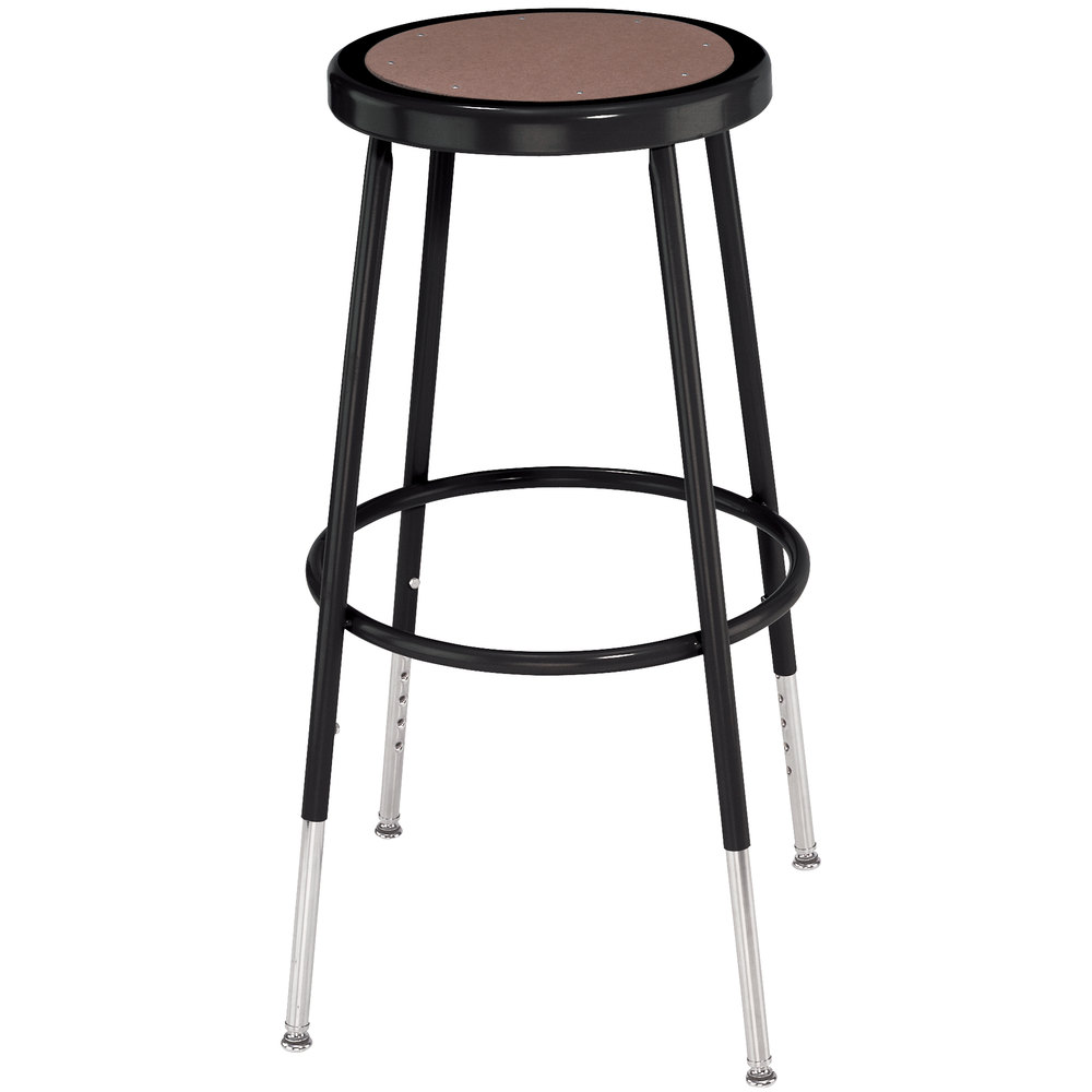 Main Picture; video  sc 1 st  Webstaurant Store & National Public Seating 6224H-10 Black 25