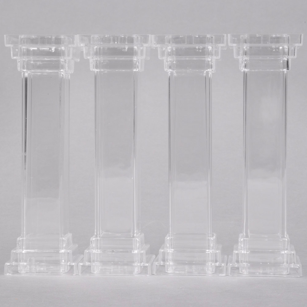 "Wilton 303-802 6"" Fillable Cake Pillars - 4/Pack"