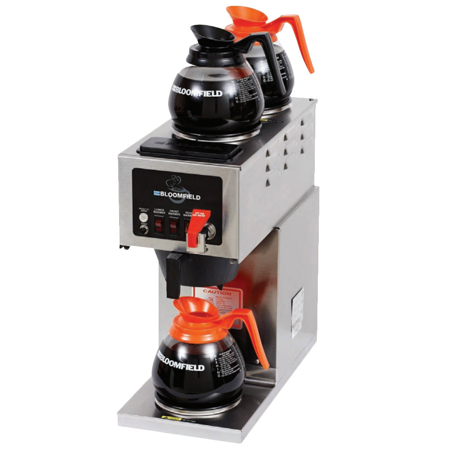 Bloomfield Integrity Coffee Maker Parts : Bloomfield 9010D3F Integrity 3 Warmer In-Line Automatic Coffee Brewer - 120V