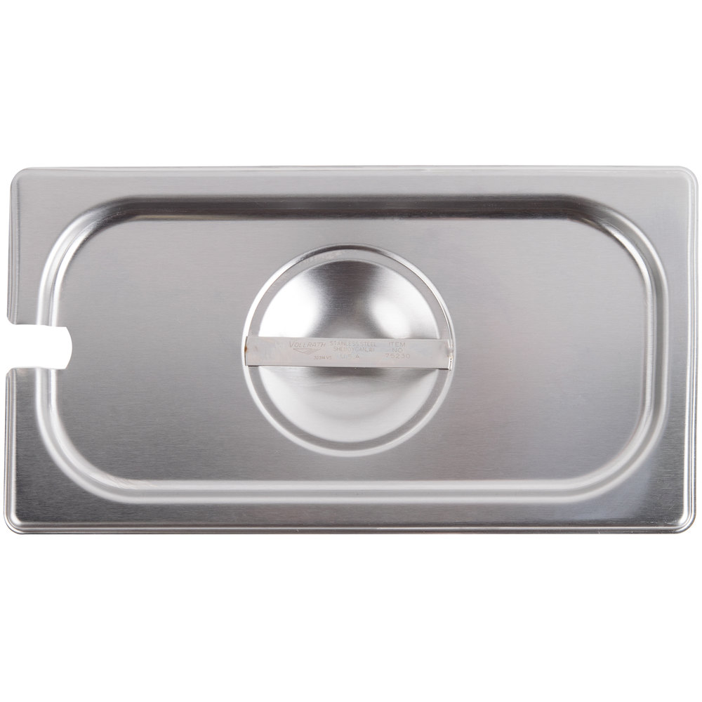 Vollrath 75230 Super Pan V 1/3 Size Slotted Stainless Steel Steam Table / Hotel Pan Cover