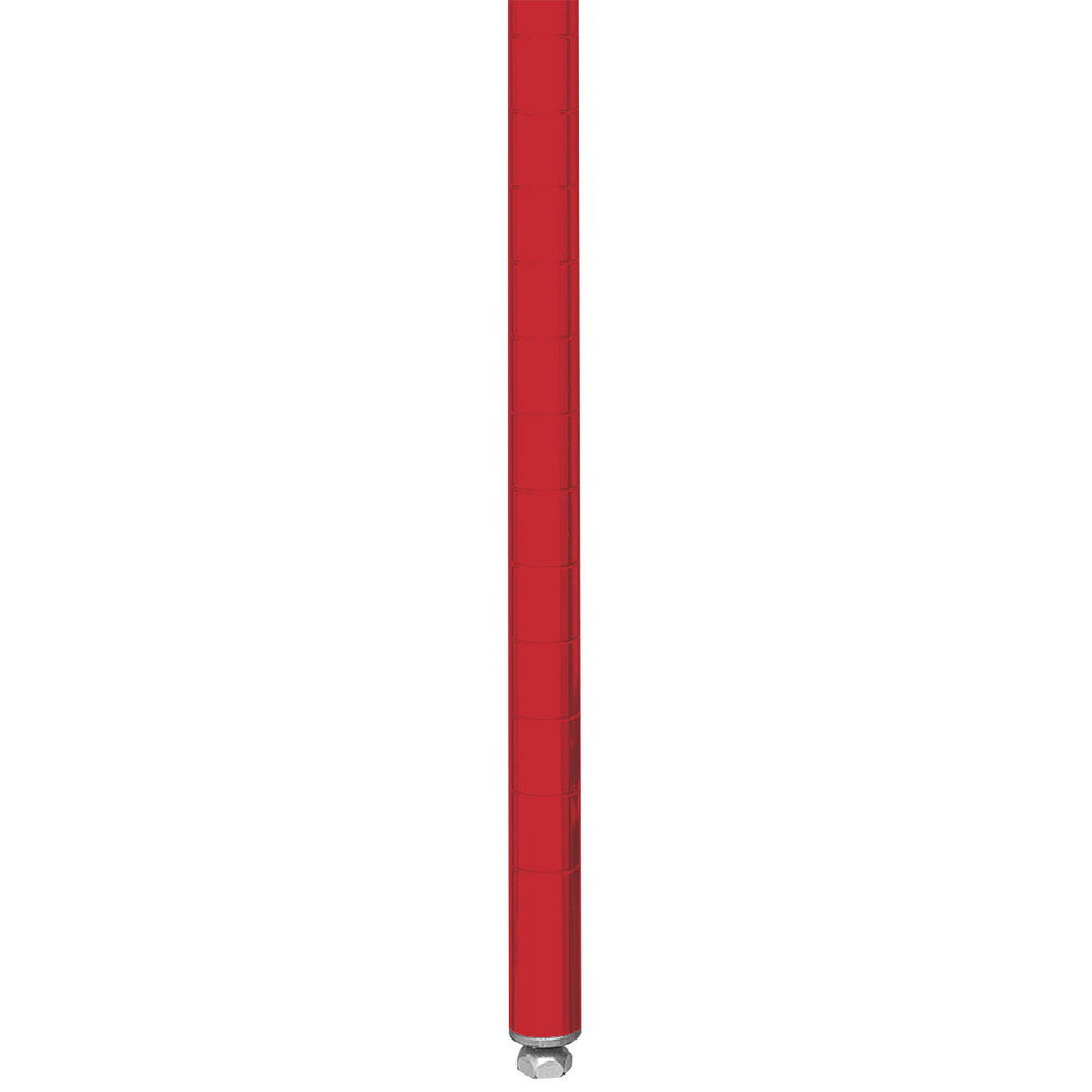 "Metro 7PF Stationary Super Erecta 7"" Post - Flame Red Finish"