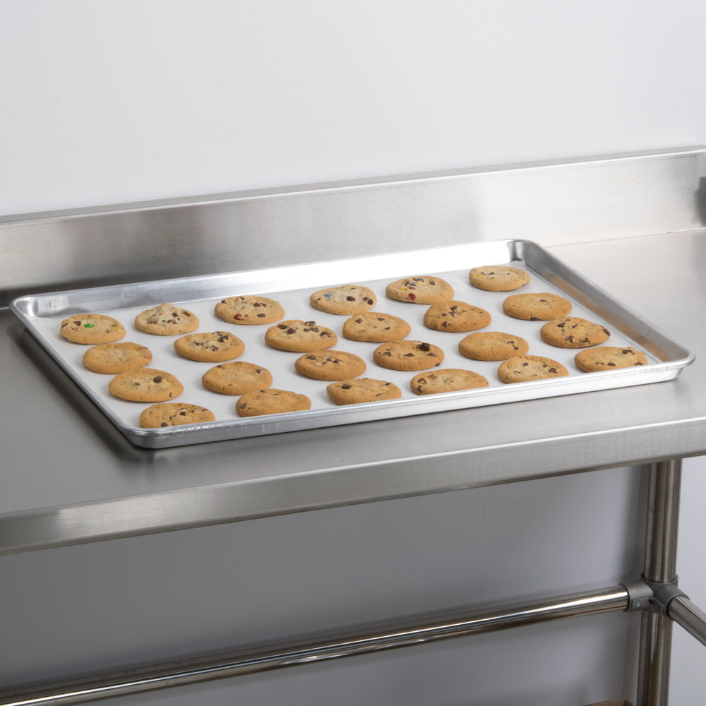 "Advance Tabco 18-8A-26 Full Size 18 Gauge Aluminum Sheet Pan - Wire in Rim, 18"" x 26"""