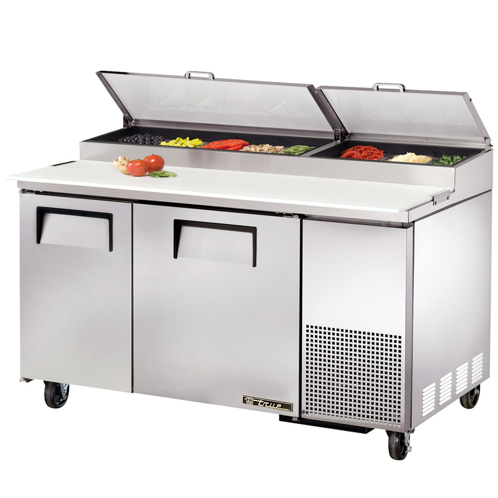 True Tpp 60 60 Quot Two Door Refrigerated Pizza Prep Table