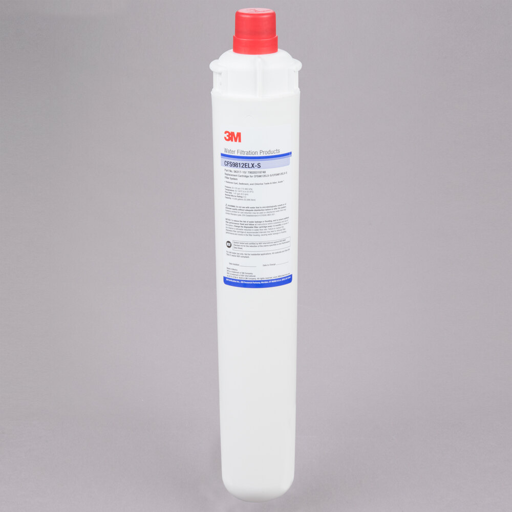 "3M Cuno CFS9812ELX-S 18 11/16"" Retrofit Sediment, Cyst, Chlorine Taste and Odor Reduction Cartridge with Scale Inhibition - 0.5 Micron and 1.67 GPM"