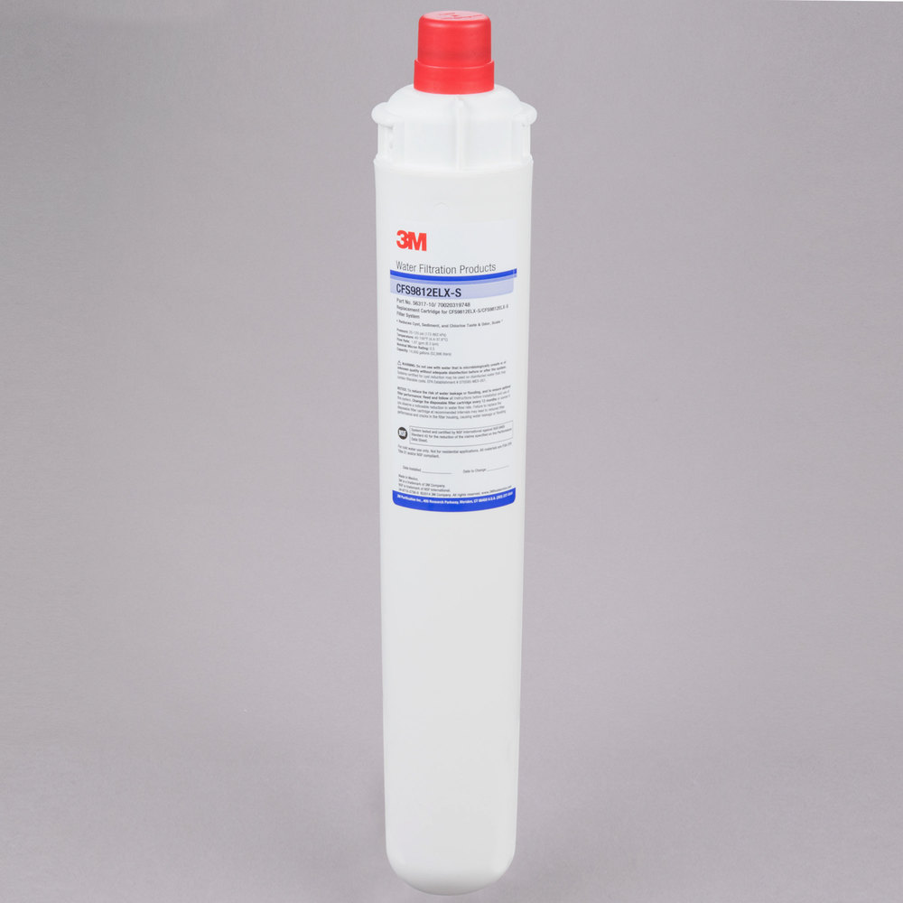 "3M Cuno 5631710 18 11/16"" Retrofit Sediment, Cyst, Chlorine Taste and Odor Reduction Cartridge with Scale Inhibition - 0.5 Micron and 1.67 GPM"