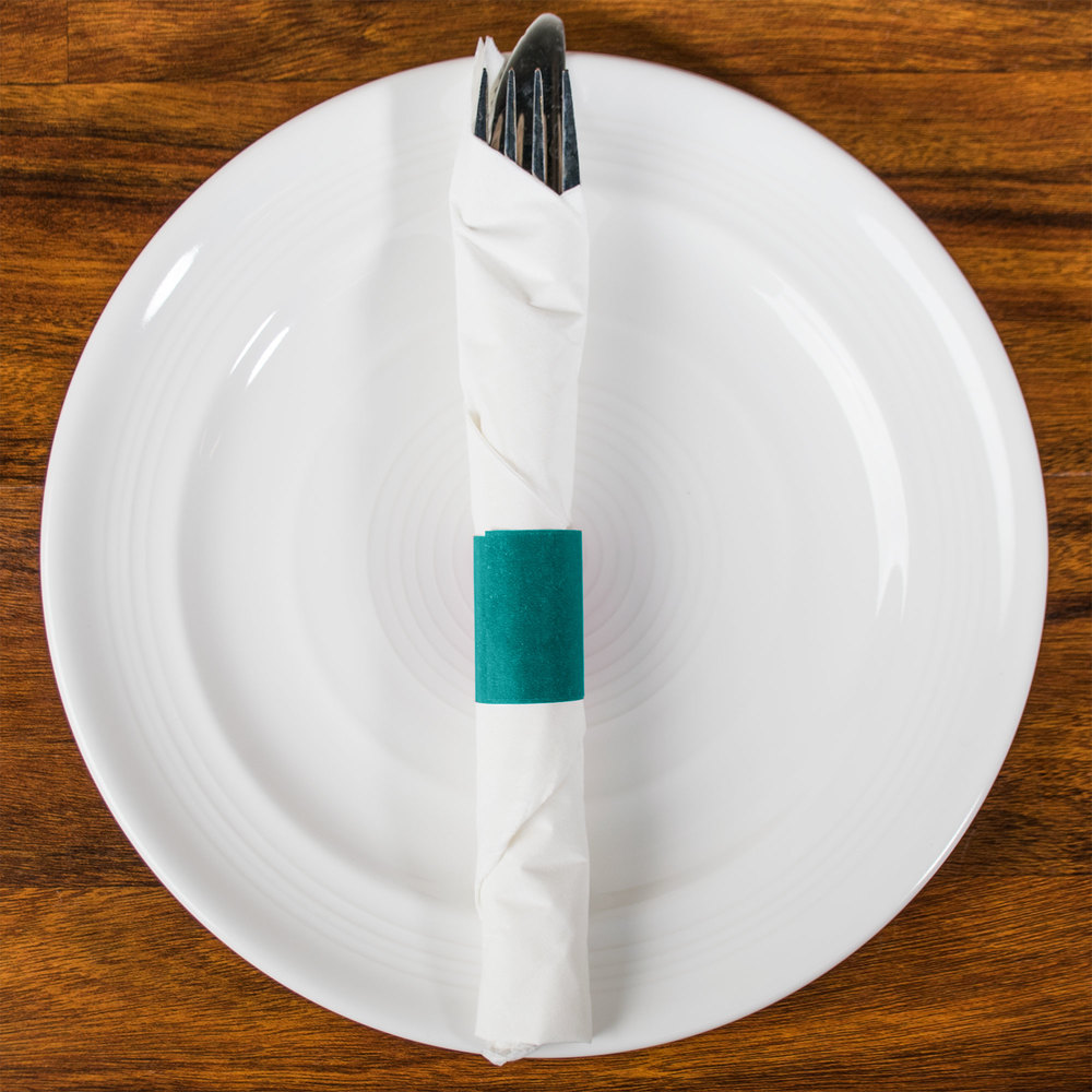 Royal Paper RNB20MT Teal Self-Adhering Paper Napkin Band - 20000/Case