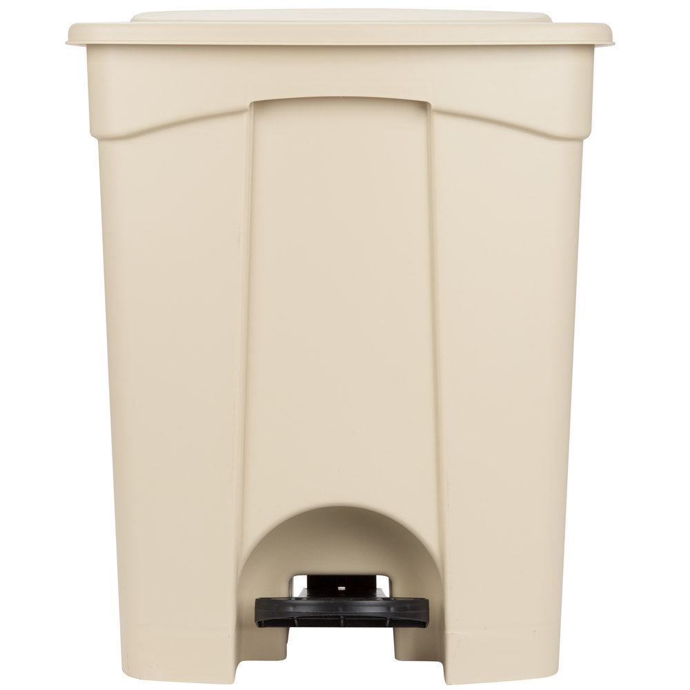Continental 18BE 18 Gallon Beige Step On Trash Can