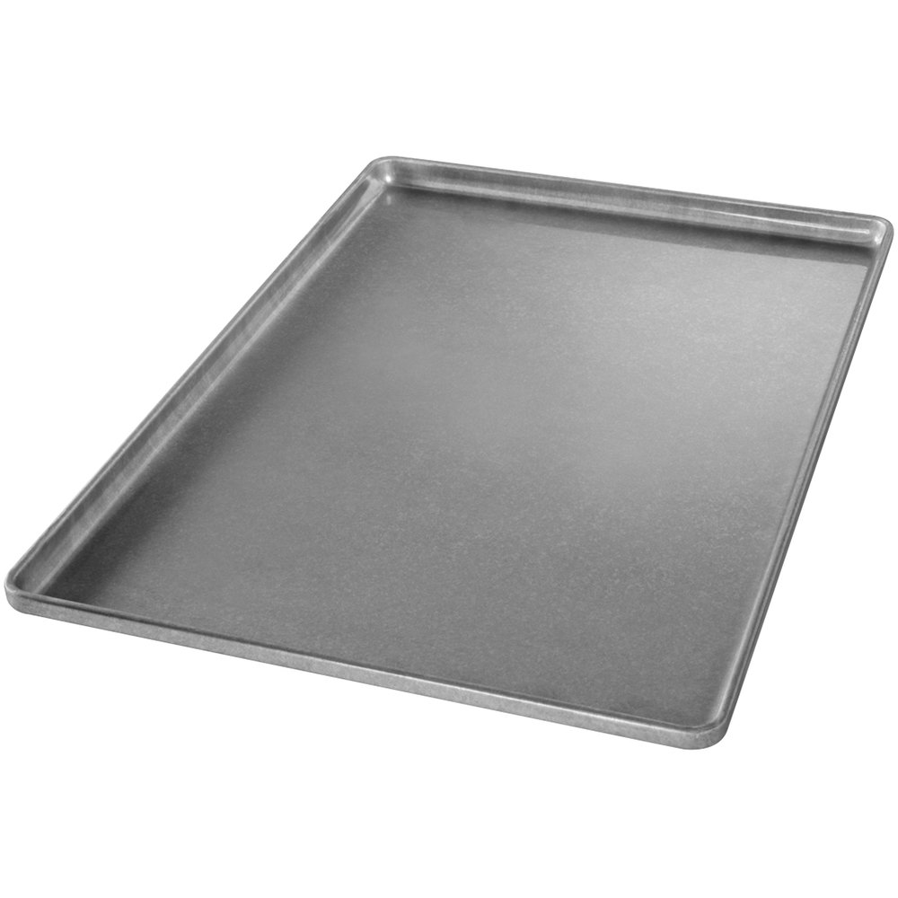 "Chicago Metallic 41031 Full Size 22 Gauge Glazed Aluminized Steel Sheet Pan - Band in Rim, 18"" x 26"""