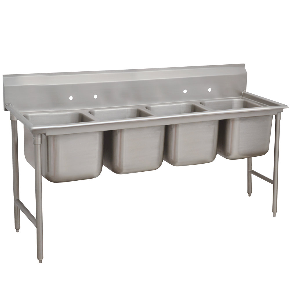 Advance Tabco 93-4-72 Regaline Four Compartment Stainless Steel Sink - 81""