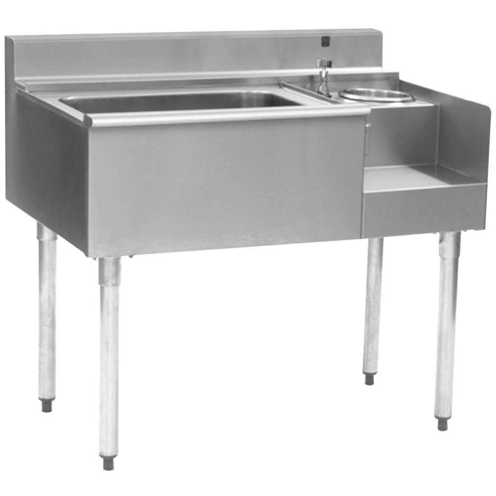 "Eagle Group BM62-18R-7 1800 Series 62"" Underbar Right Blender Module, Center Ice Bin, Left Drainboard, and Cold Plate"