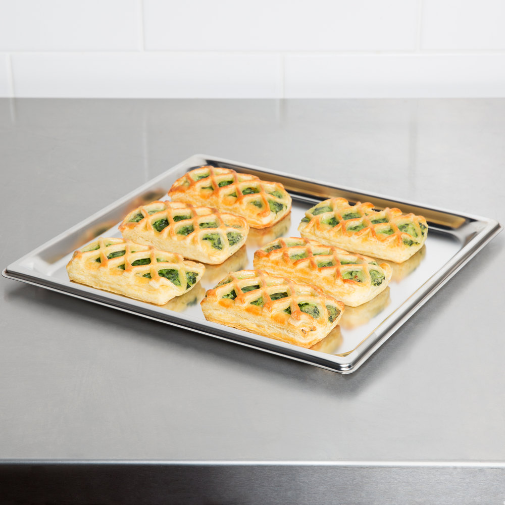 "Vollrath 90102 Super Pan 3® 2/3 Size Anti-Jam Stainless Steel Steam Table Tray - 3/4"" Deep"