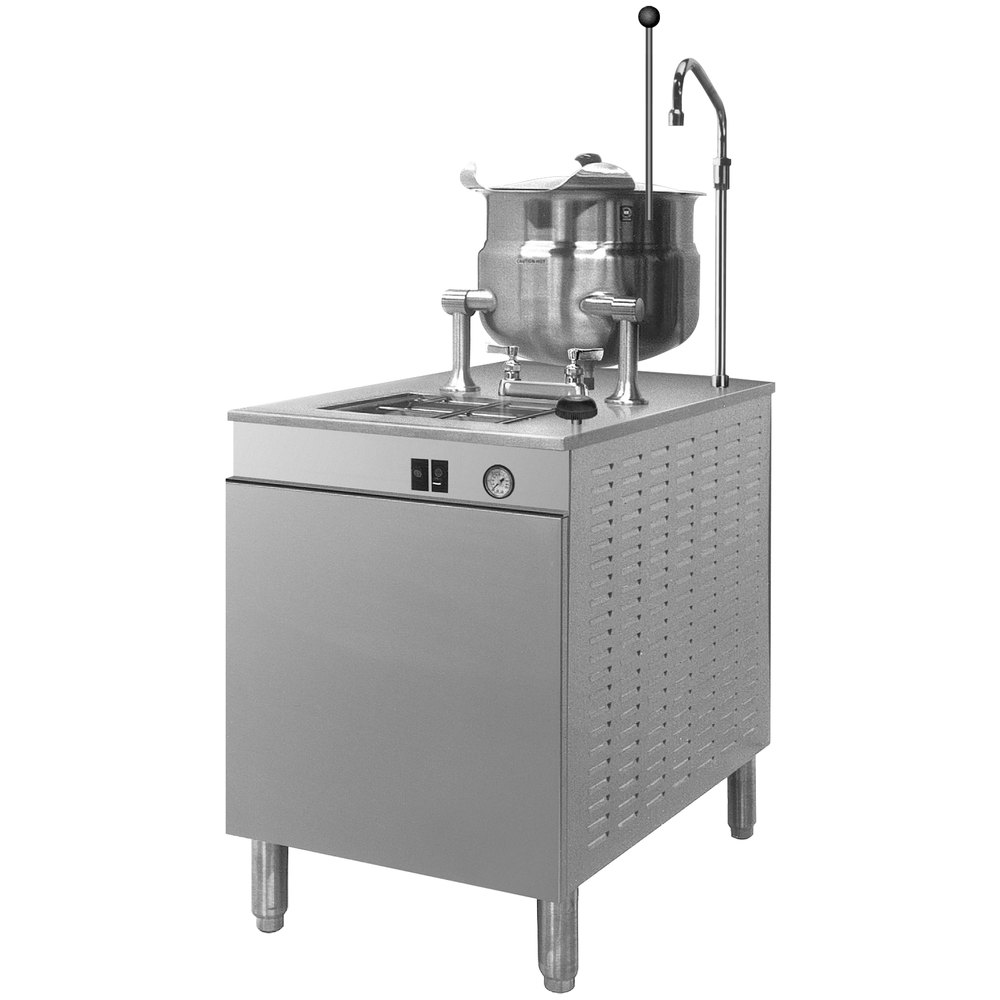Cleveland 24-DM-K6 6 Gallon Tilting 2/3 Steam Jacketed Direct Steam Kettle with Modular Base