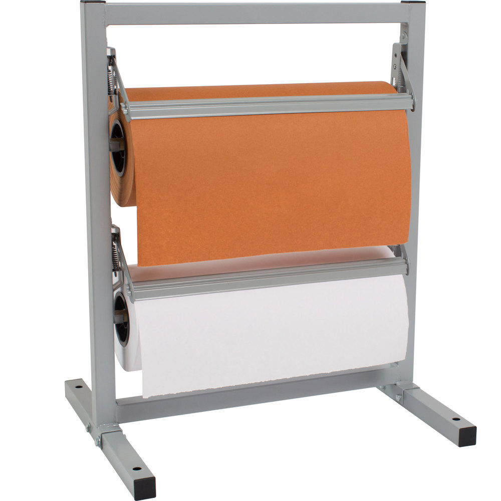 "Bulman T367R-15 15"" Two Deck Tower Paper Rack with Straight Edge Blade"