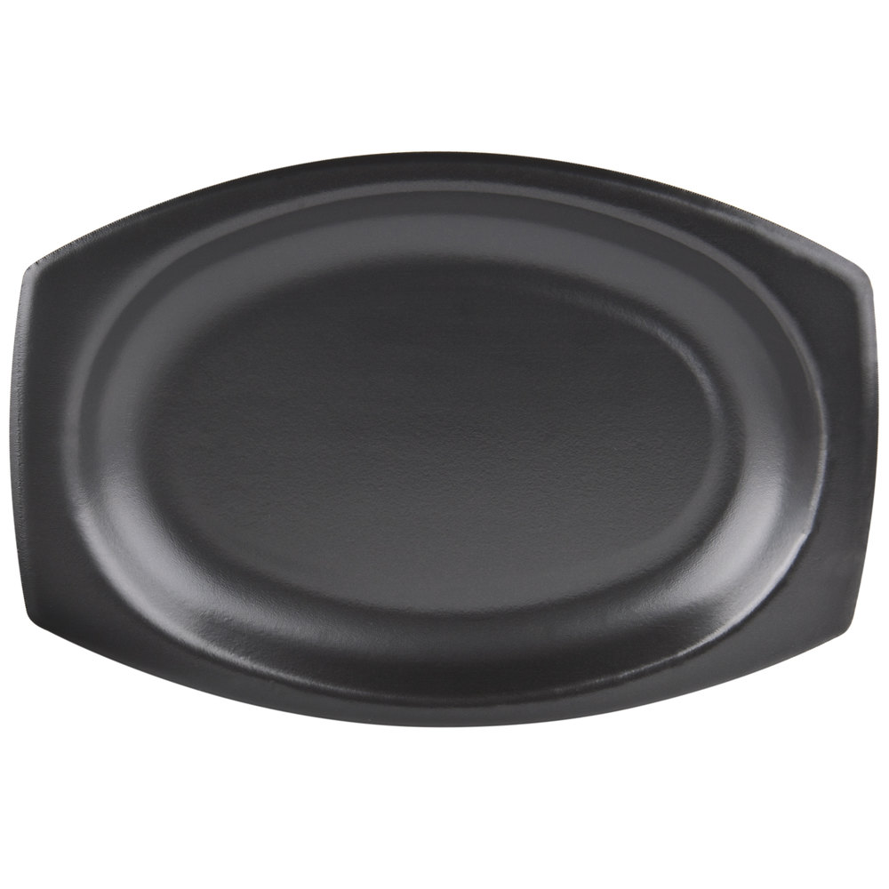 "Dart 9PRBQR Quiet Classic 9"" Black Laminated Foam Platter - 500/Case"