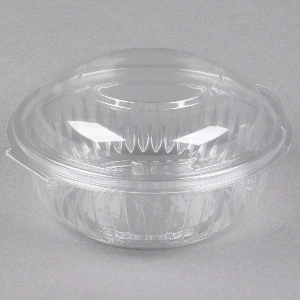 dart solo c12hbd presentabowls 12 oz clear hinged plastic bowl with dome lid 300 case. Black Bedroom Furniture Sets. Home Design Ideas