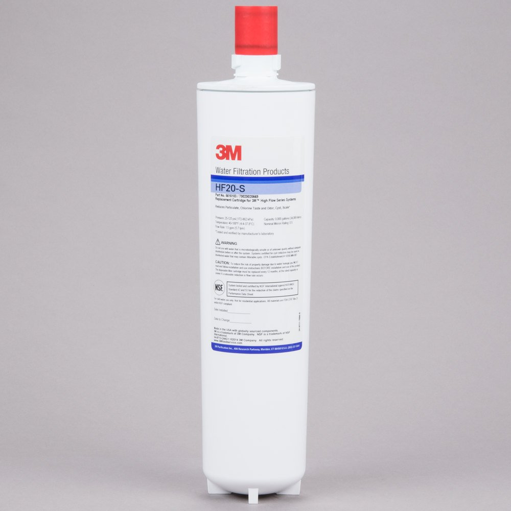 3M Cuno HF20-S Replacement Cartridge for ICE120-S Water Filtration System - 0.5 Micron and 1.5 GPM