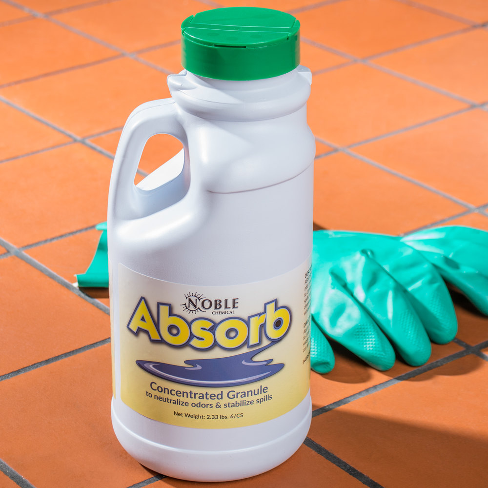Noble Chemical 2 lb. Absorb Odor Neutralizer / Spill Stabilizer - 6/Case