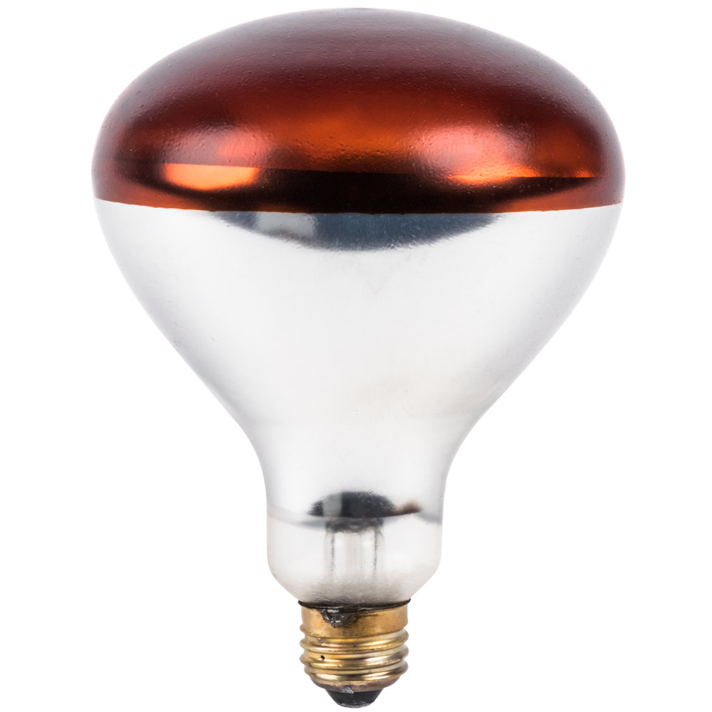 Lavex Janitorial 250 Watt Red Coated Infrared Heat Lamp Light Bulb