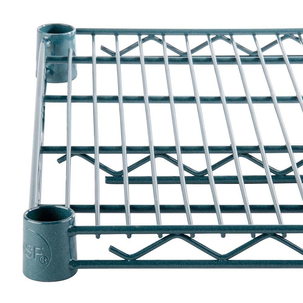 Regency 14 inch x 60 inch NSF Green Epoxy Wire Shelf