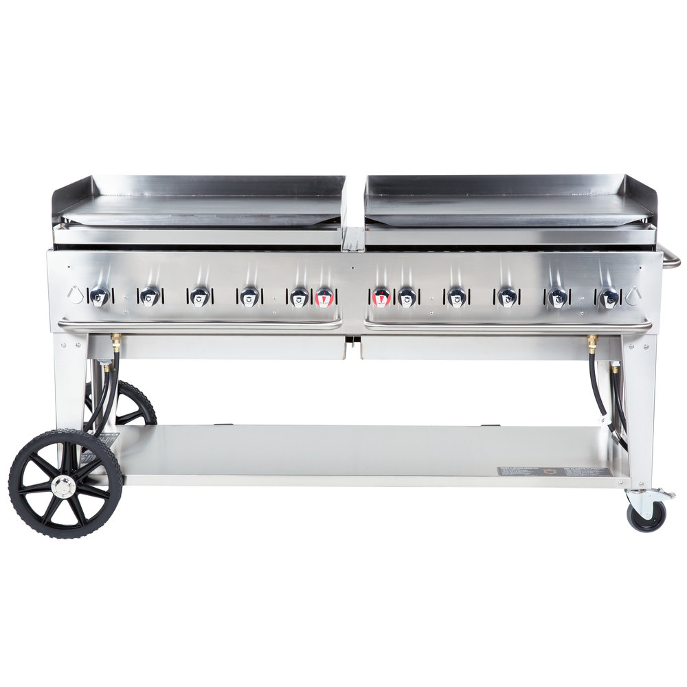 Outdoor Griddle Grill ~ Crown verity mg lp quot portable outdoor griddle liquid