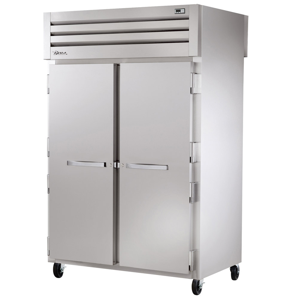 True STG2HPT-2S-2S Specification Series Two Section Pass-Through Solid Door Heated Holding Cabinet